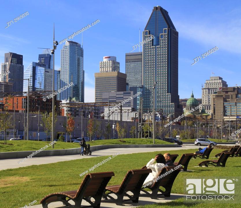 Stock Photo: Canada, Quebec, Montreal, Boulevard Robert-Bourassa,.