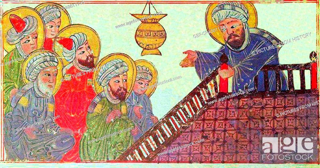 iran persia the prophet muhammad preaching his final sermon to