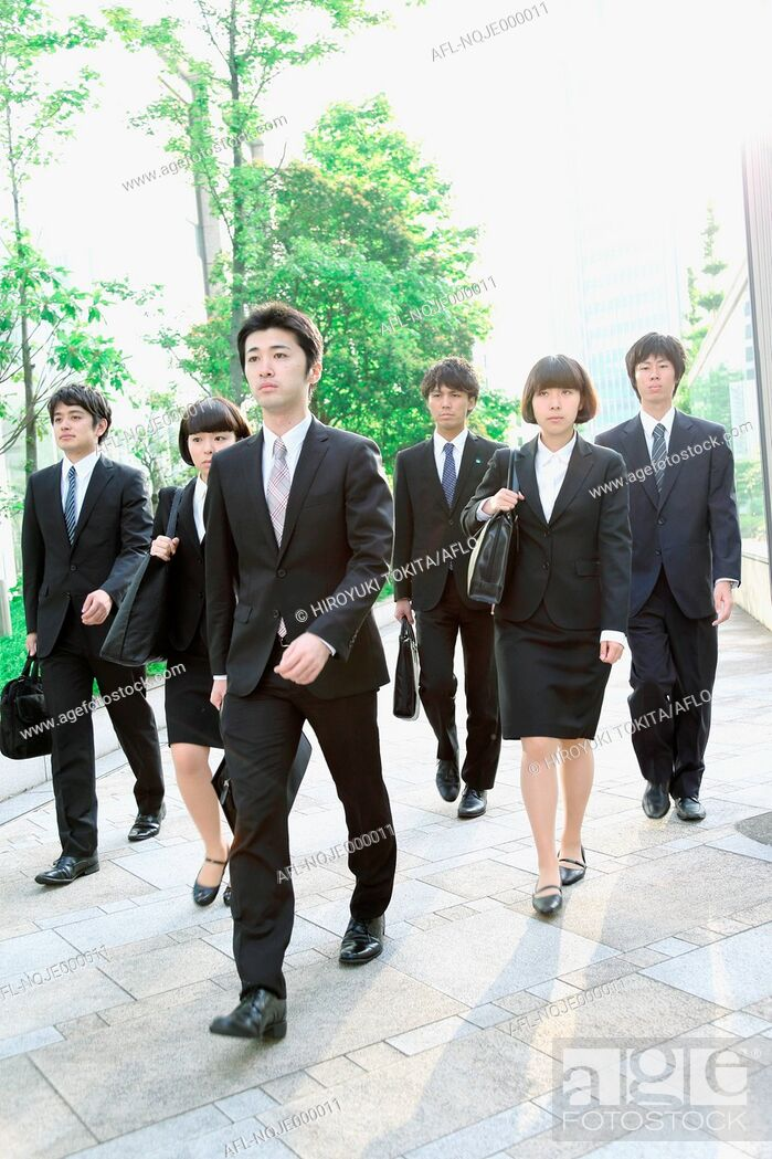 Stock Photo: Young Japanese business people.