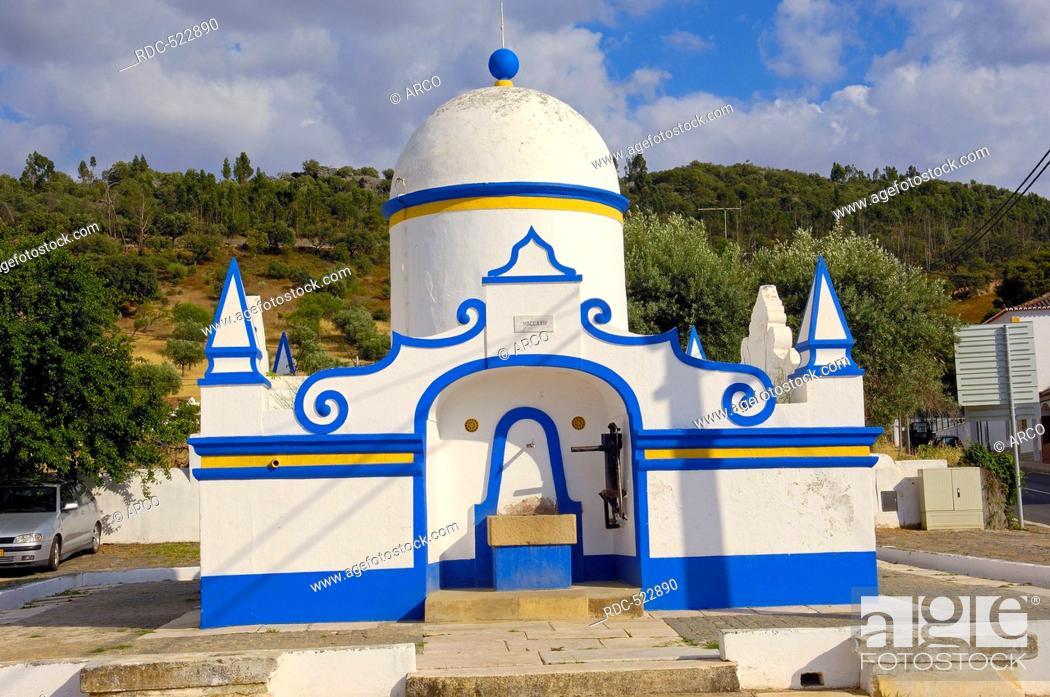 Stock Photo: Monsaraz, Old Fountain, Evora district, Alentejo, Portugal, Europe.