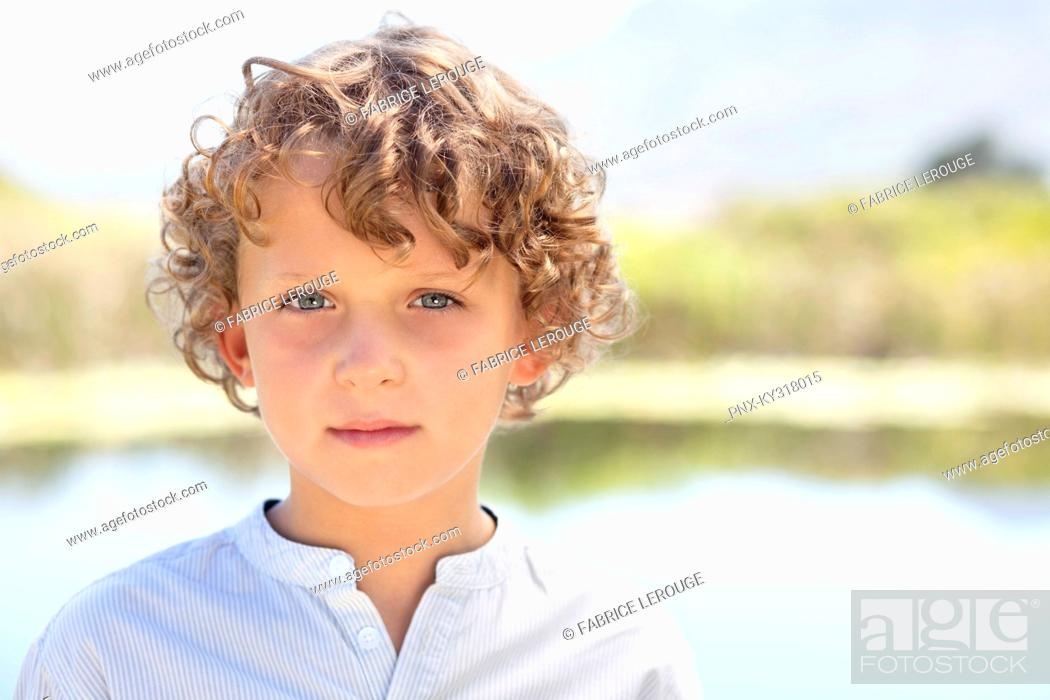 Stock Photo: Close-up of smiling boy.