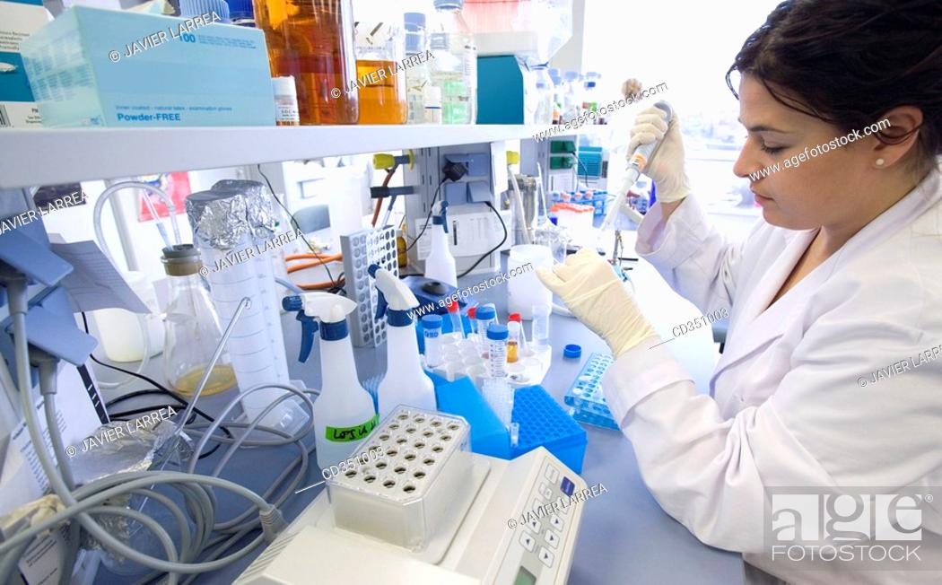 Stock Photo: R+D department, biopharmaceutical lab, development and production of innovative drugs using adult stem cells, Cellerix, Grupo Genetrix, Madrid.