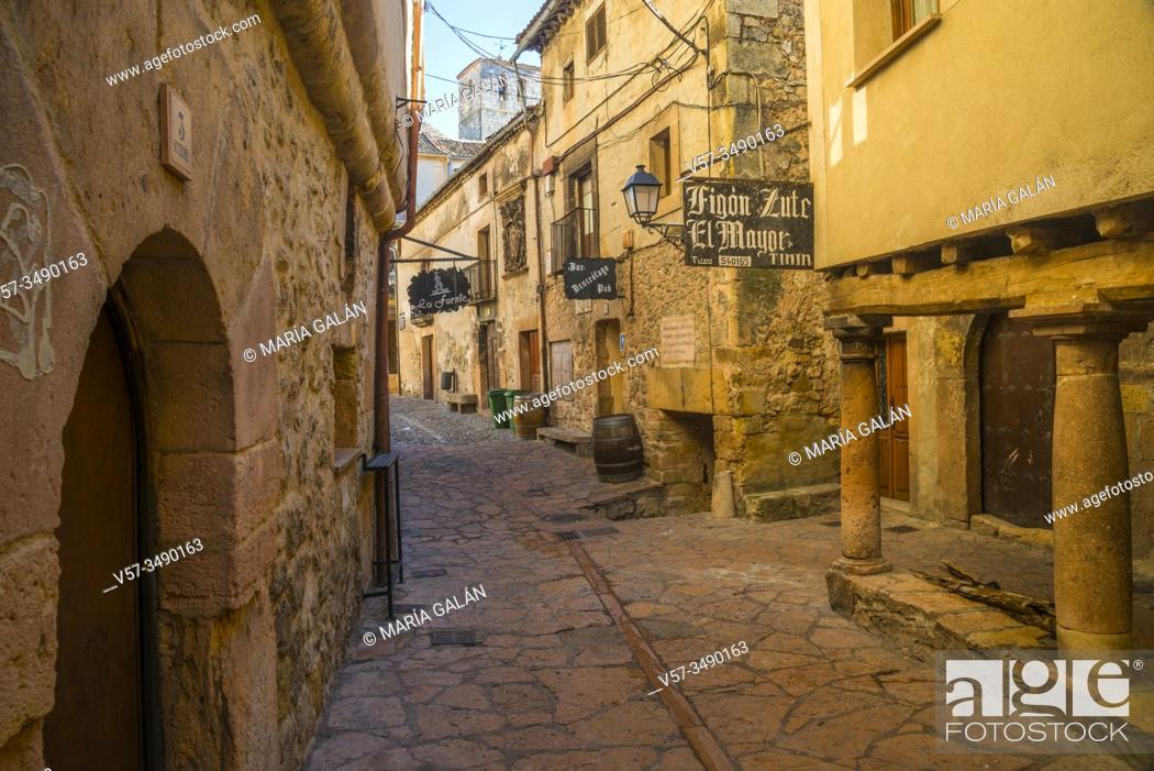 Stock Photo: Street. Sepulveda, Segovia province, Castilla Leon, Spain.