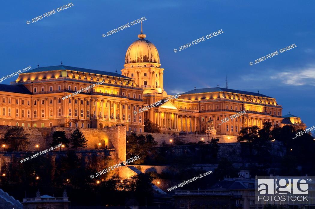 Stock Photo: Royal Palace, Budapest  Hungary, Europe.