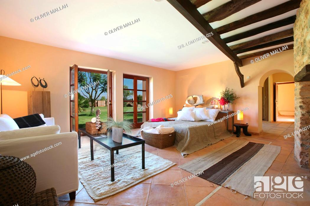 Master bedroom in Spanish style home, Stock Photo, Picture And ...