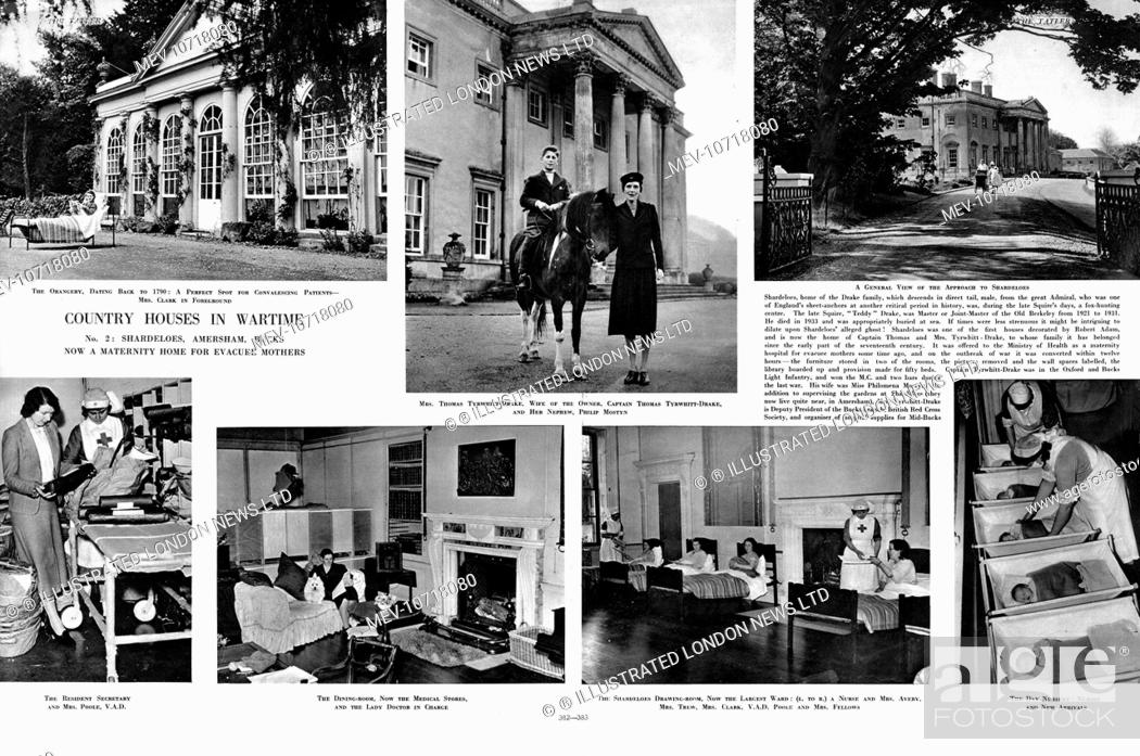 Scenes From A Country House Shardeloes In Amersham Buckinghamshire During World War Ii Stock Photo Picture And Rights Managed Image Pic Mev 10718080 Agefotostock