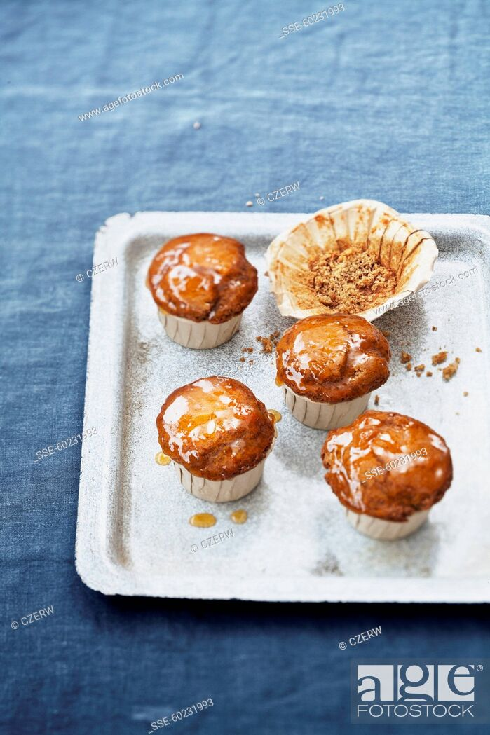 Stock Photo: Speculos ginger biscuit muffins.