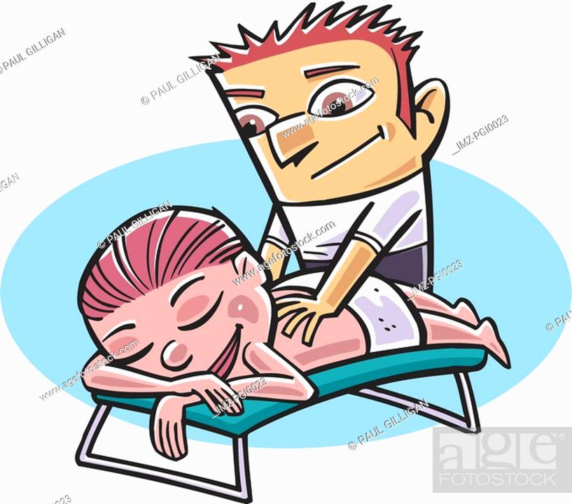 Stock Photo: Back massage.