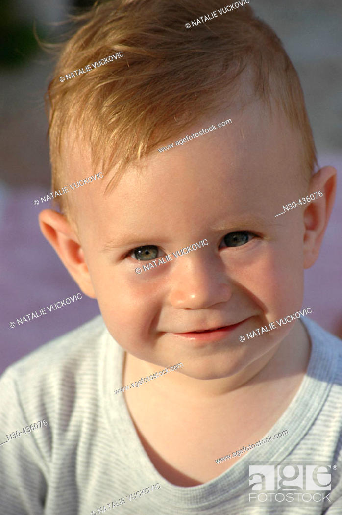 Stock Photo: Close up of 1 Year Old Boy.