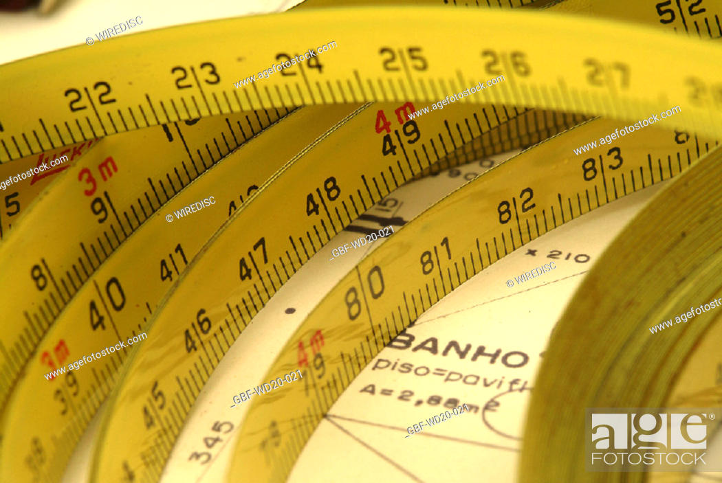 Stock Photo: Measuring tape, Project, architecture, Brazil.