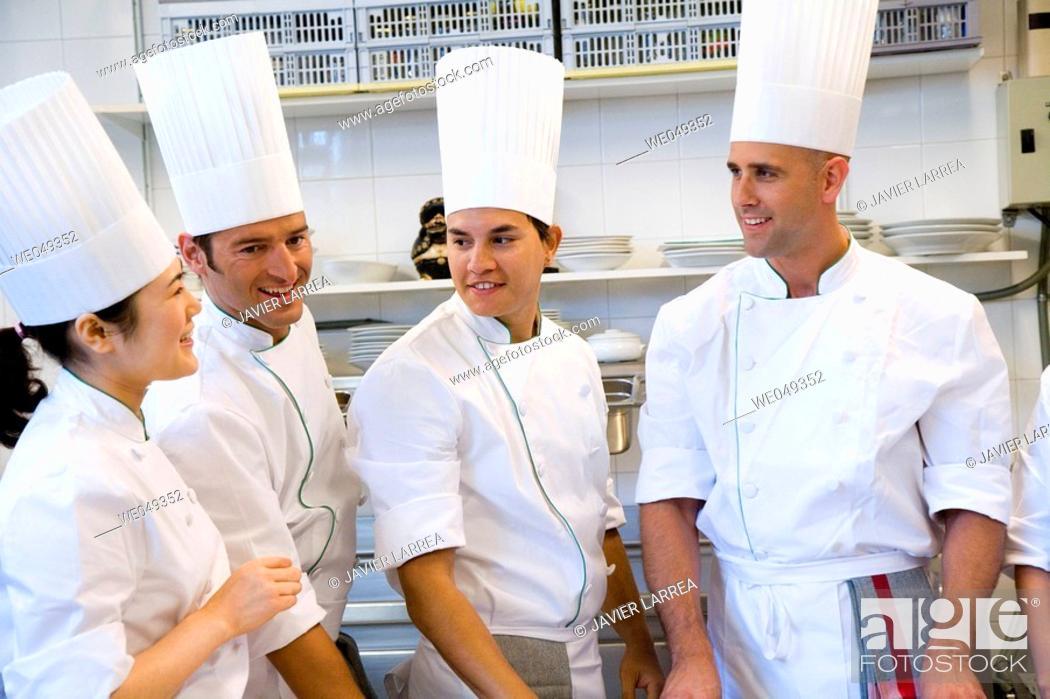 Stock Photo: Preparations. Luis Irizar cooking school. Donostia, Gipuzkoa, Basque Country, Spain.