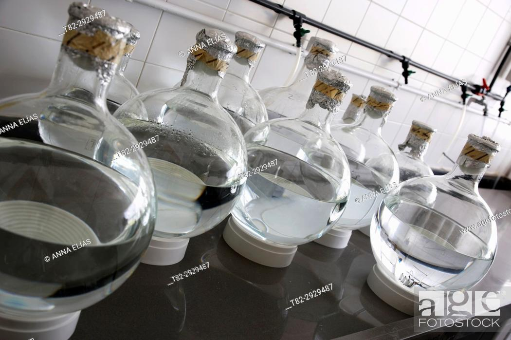 Stock Photo: Marine research and quality control laboratory. Huelva, Andalusia, Spain.