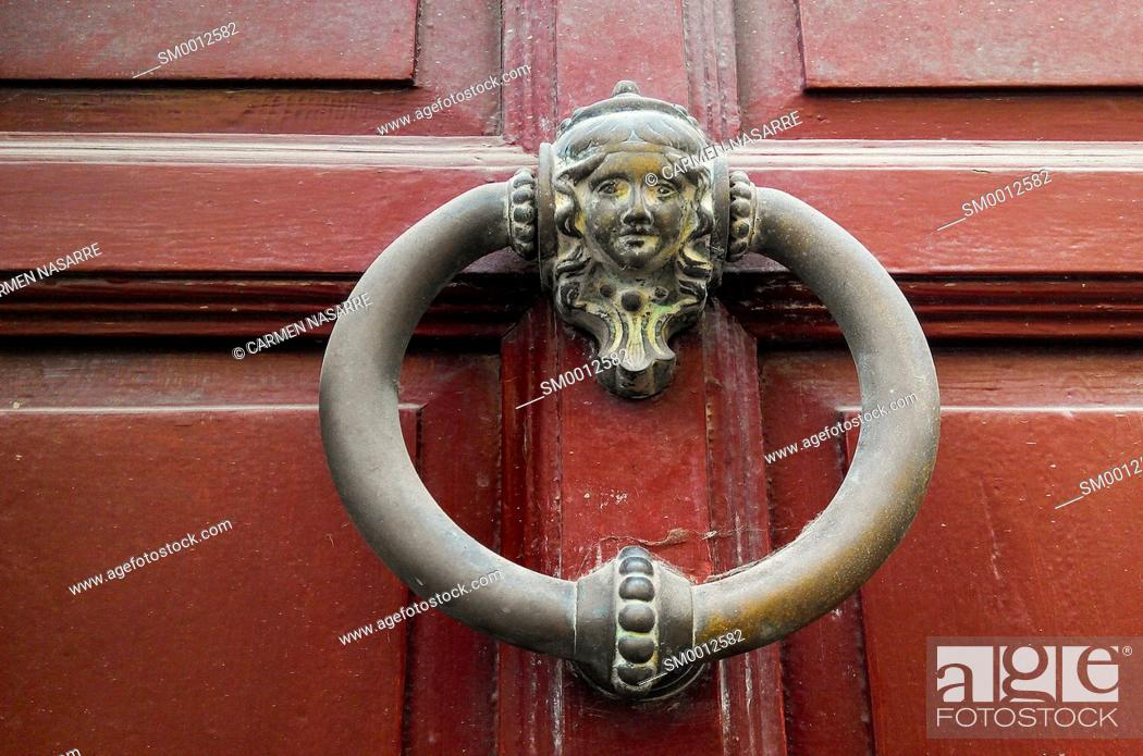 Stock Photo: Brass knocker.