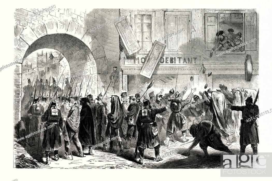 Stock Photo: FRANCO-PRUSSIAN WAR: FRENCH PRISONNNIERS LEAVING SEDAN September 2 1870.