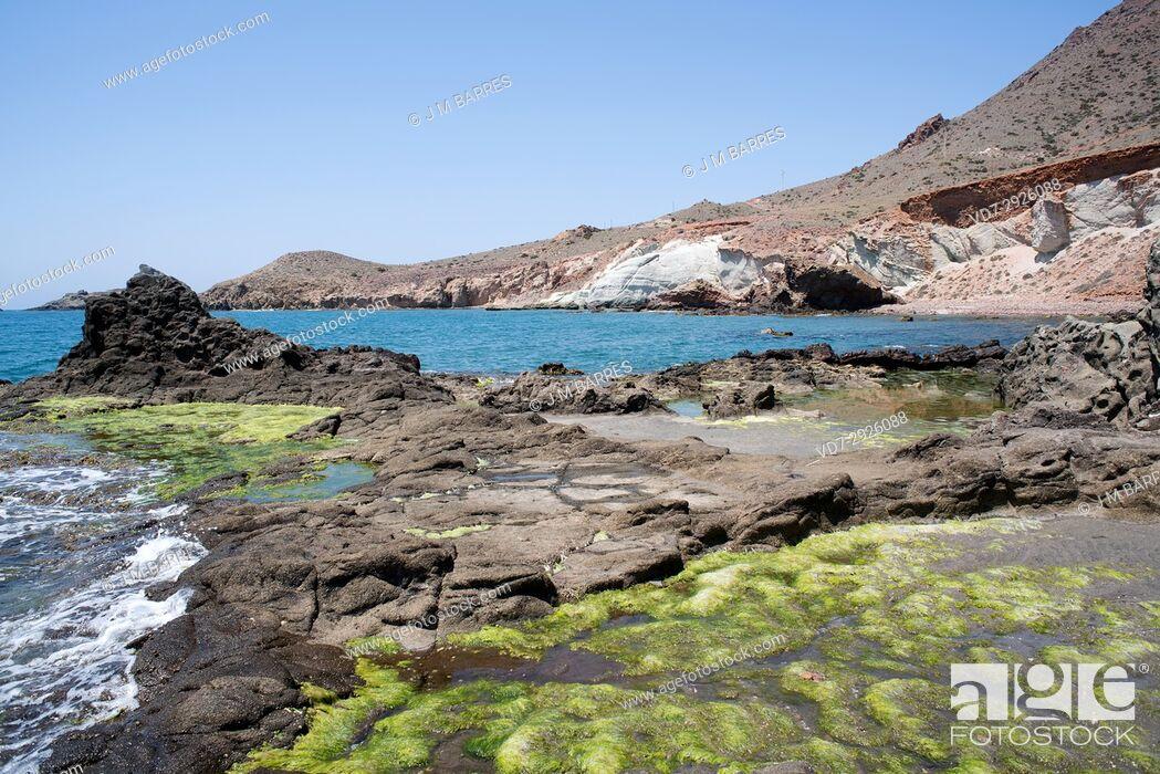 Stock Photo: Cala Raja. Cabo de Gata-Nijar Natural Park, Almeria province, Andalucia, Spain.