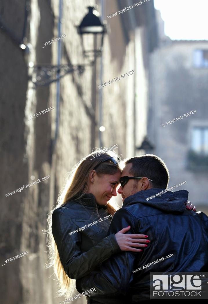 Stock Photo: Couple embracing.