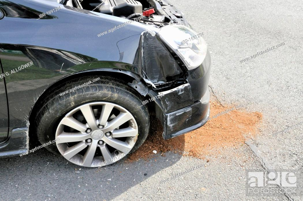 Traffic accident, Germany, Europe, Stock Photo, Picture And