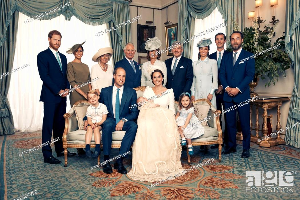Imagen: For first publication 22.30 hours BST on Sunday July 15th 2018: OFFICIAL PORTRAIT OF THE CHRISTENING OF PRINCE LOUIS. OBLIGATORY CREDIT LINE: PHOTO MATT.