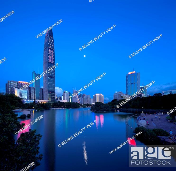 Stock Photo: Scenery of Kingkey 100 Building in Shenzhen,Guangdong province,China.