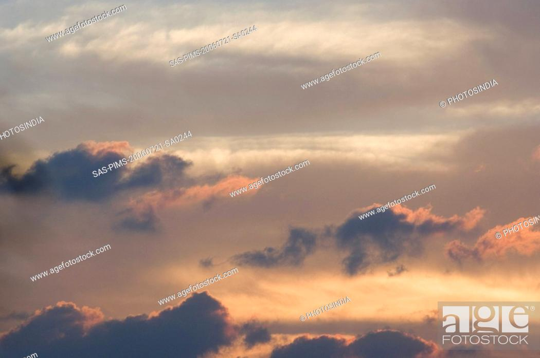 Stock Photo: Low angle view of clouds in the sky, New Delhi, India.