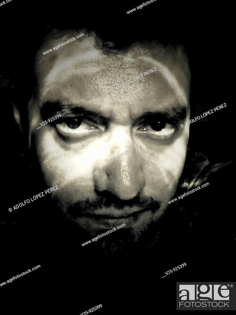 Stock Photo: Portrait of man.