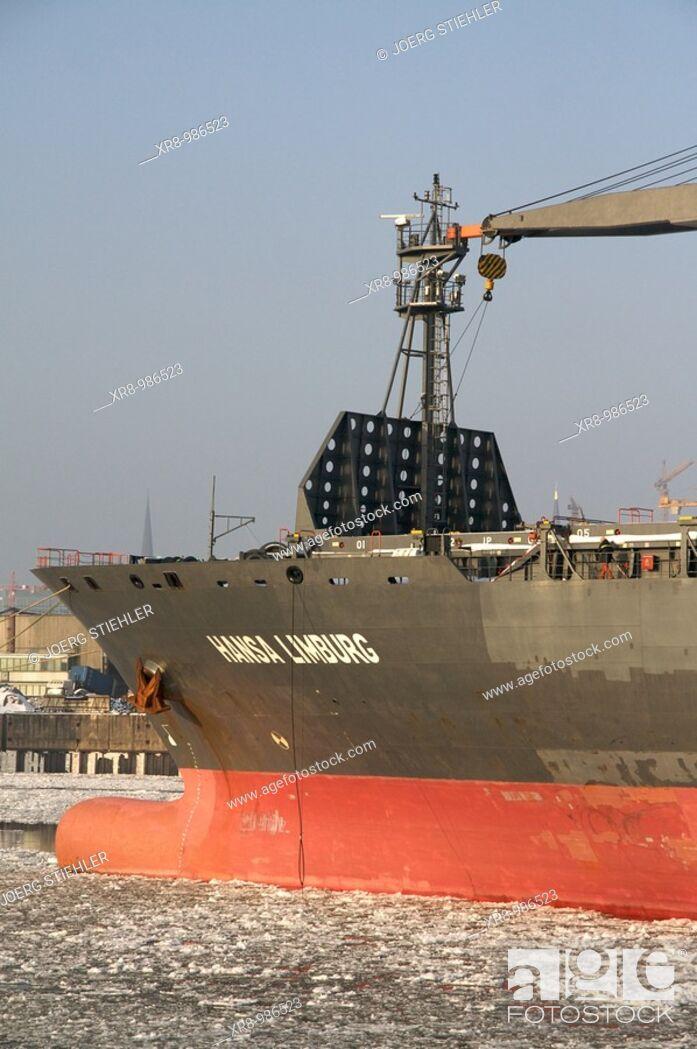 Photo de stock: Ship waiting of cargo, Hamburg, Germany.