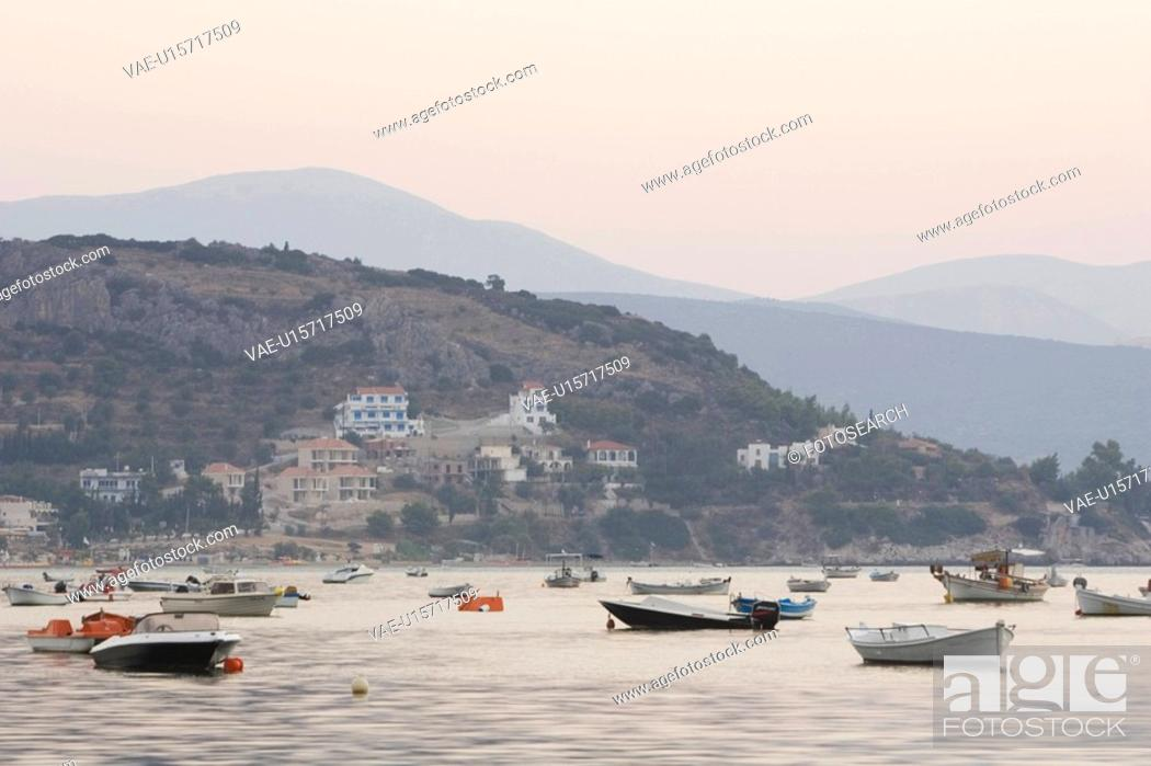 Stock Photo: Boat, Building, Day, Generic Location, Hillside.