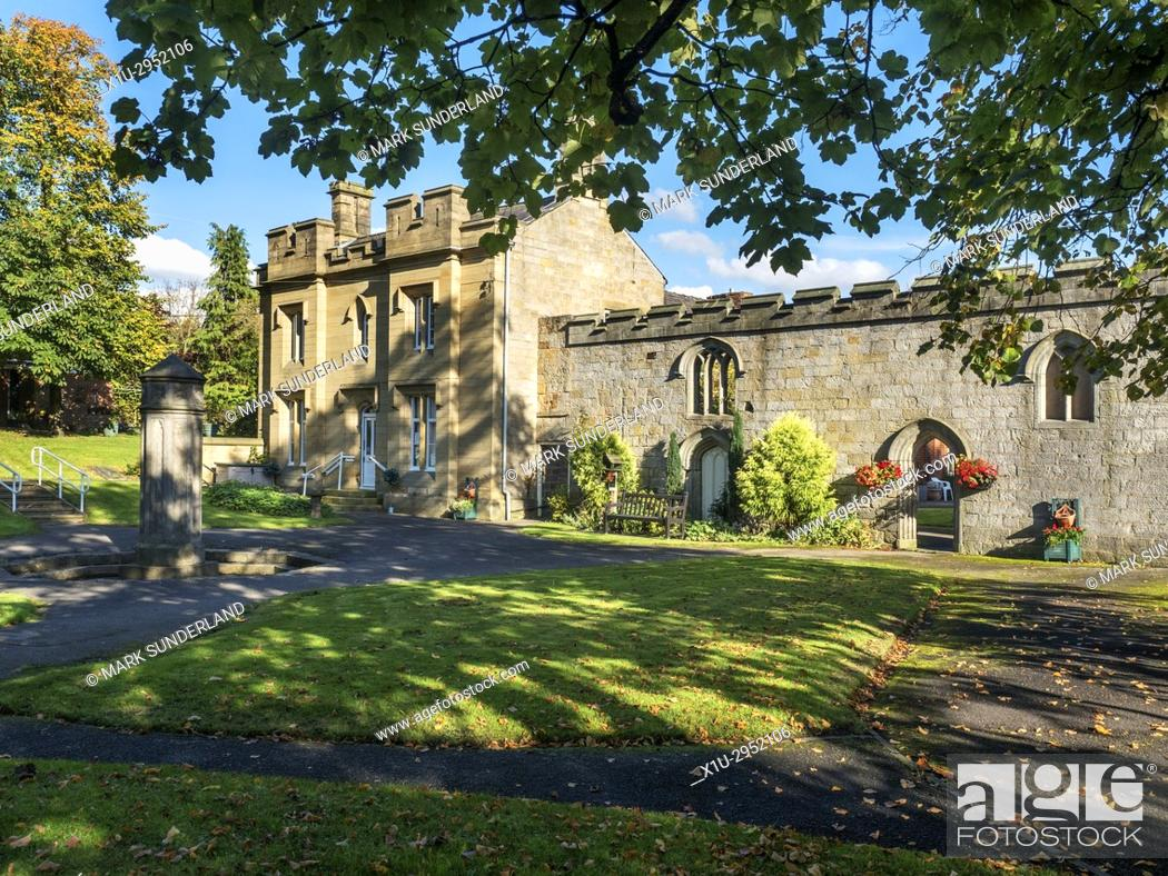 Stock Photo: The Old Spa Building in Starbeck near Harrogate North Yorkshire England.
