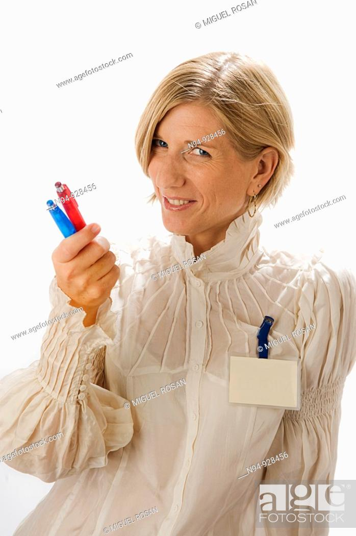Stock Photo: Businesswoman portrait.
