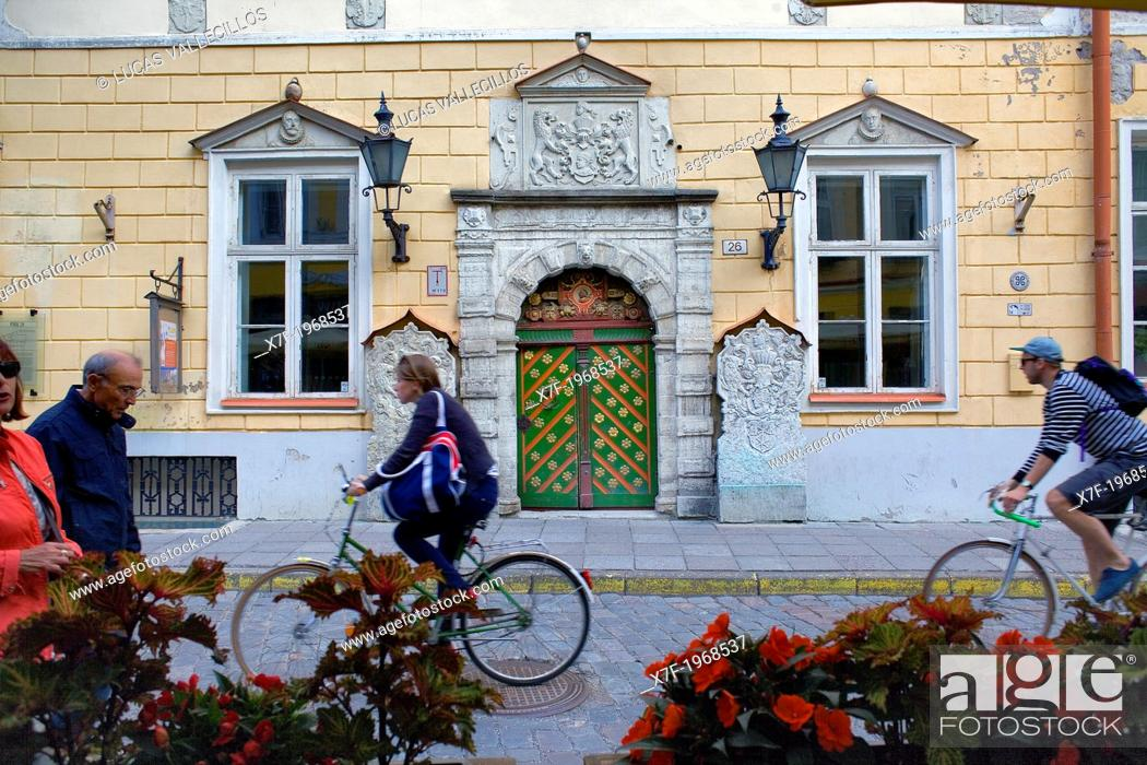 Stock Photo: House of the Brotherhood of Black Heads,Tallinn,Estonia.