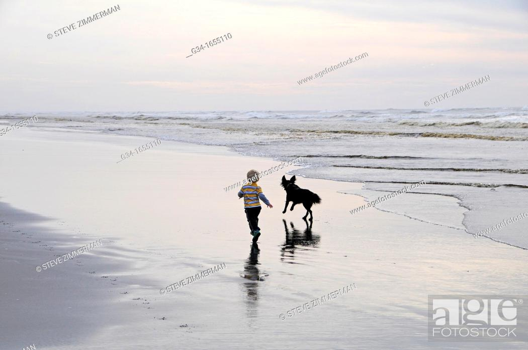 Stock Photo: A Boy and His Dog.