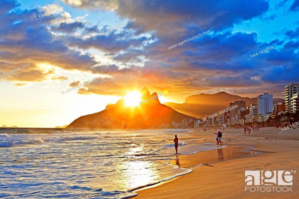 Stock Photo: Ipanema Beach, Rio de Janeiro,Brazil.