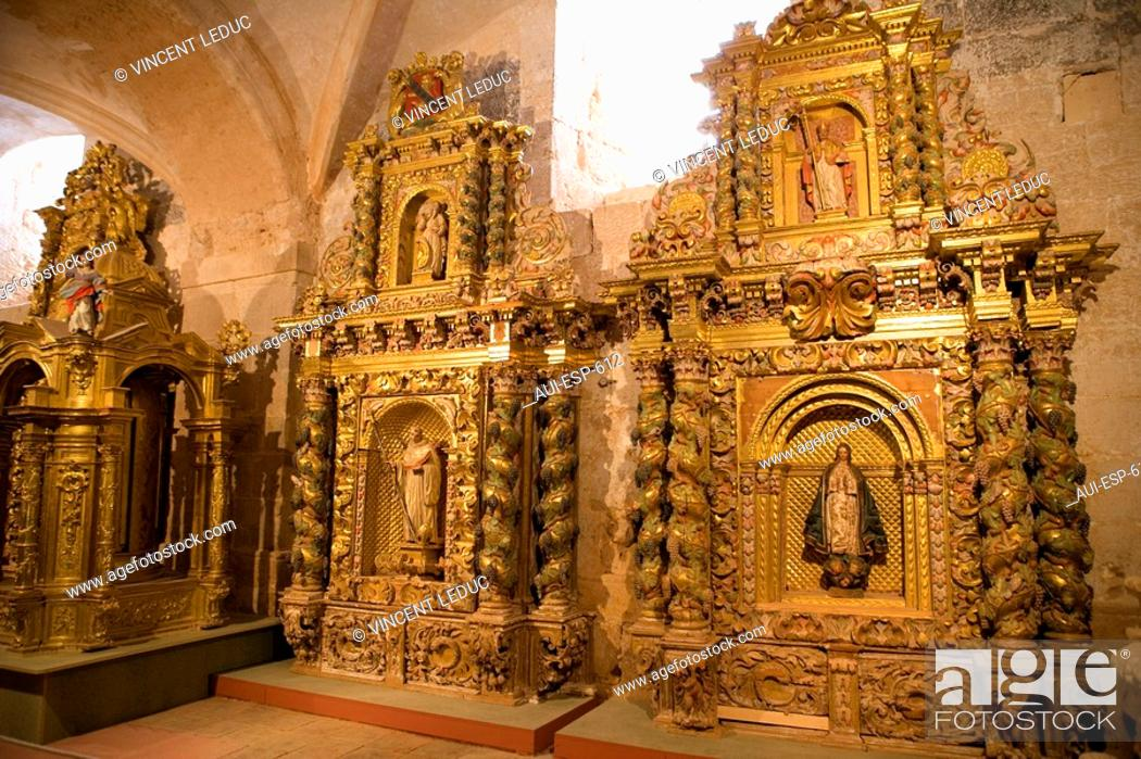 Stock Photo: Spain - Castile and Leon - Province of Soria - Santa Maria de Huerta - Cistercian Royal Monastery.