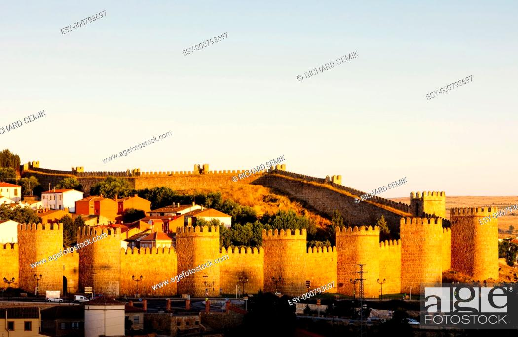 Stock Photo: Avila, Castile and Leon, Spain.