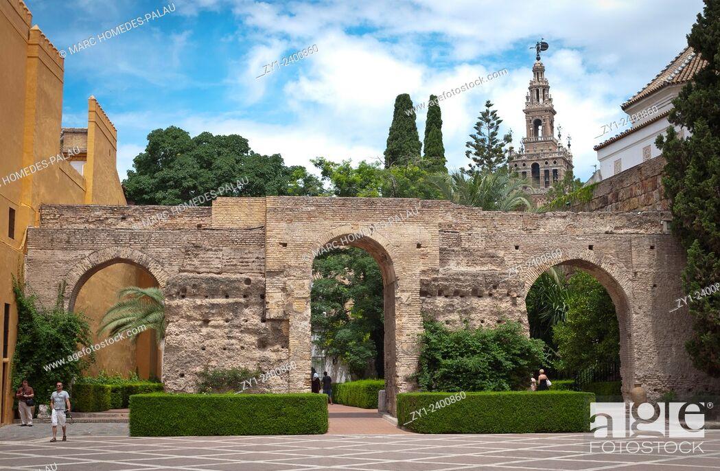 Stock Photo: Alcazar of Seville.