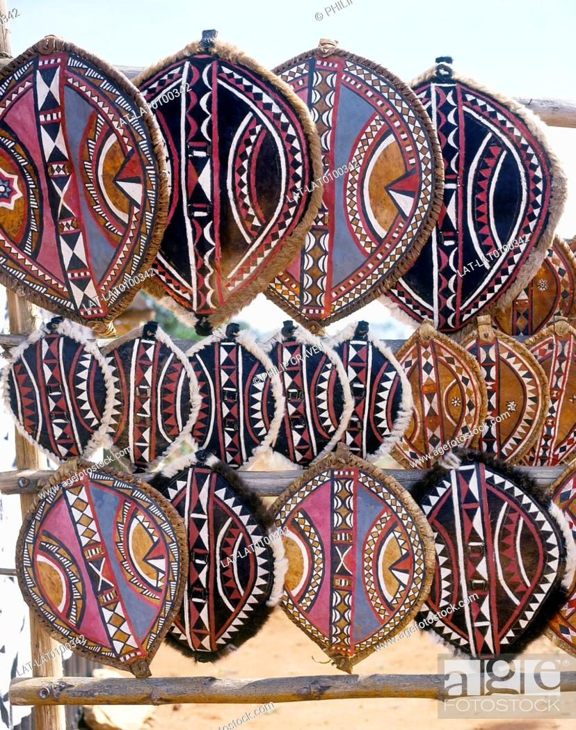 Maasai tribe shields  Traditional patterns,decorations
