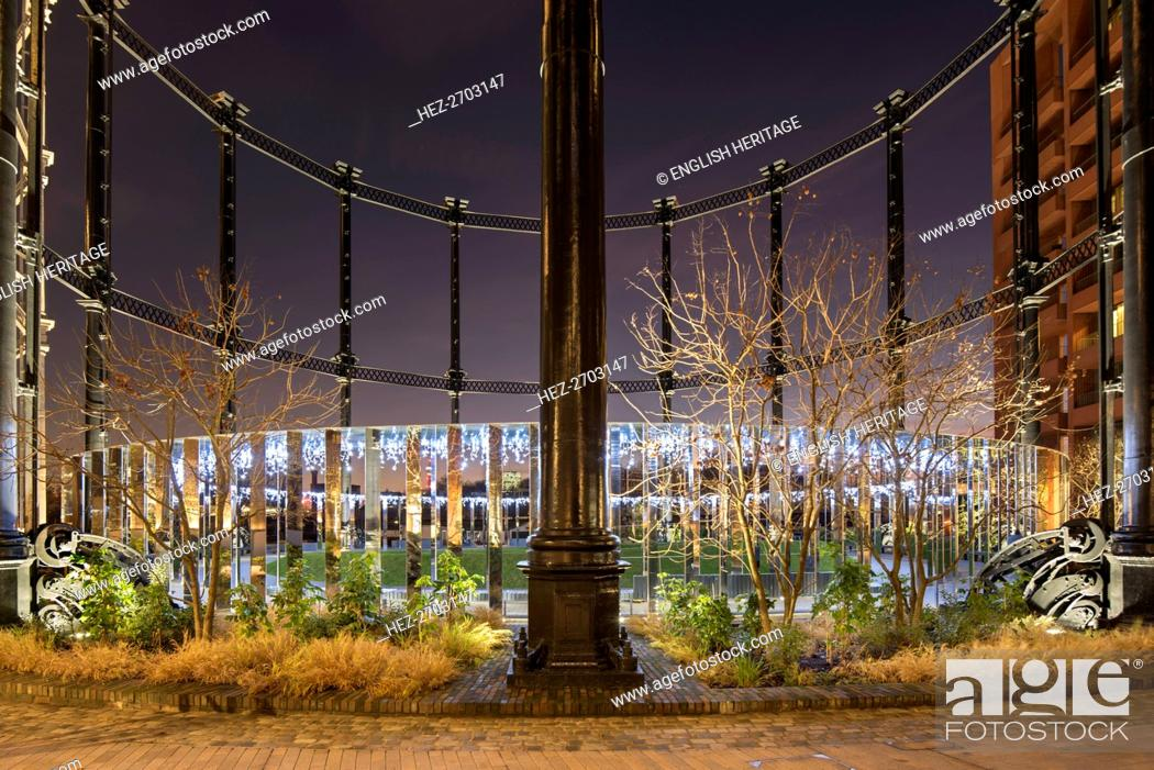 Gasholder Park, King's Cross, Camden, London, 2017  Creator