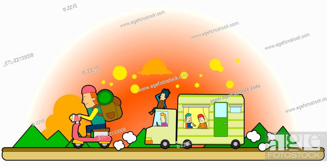 Stock Photo: The road travel.