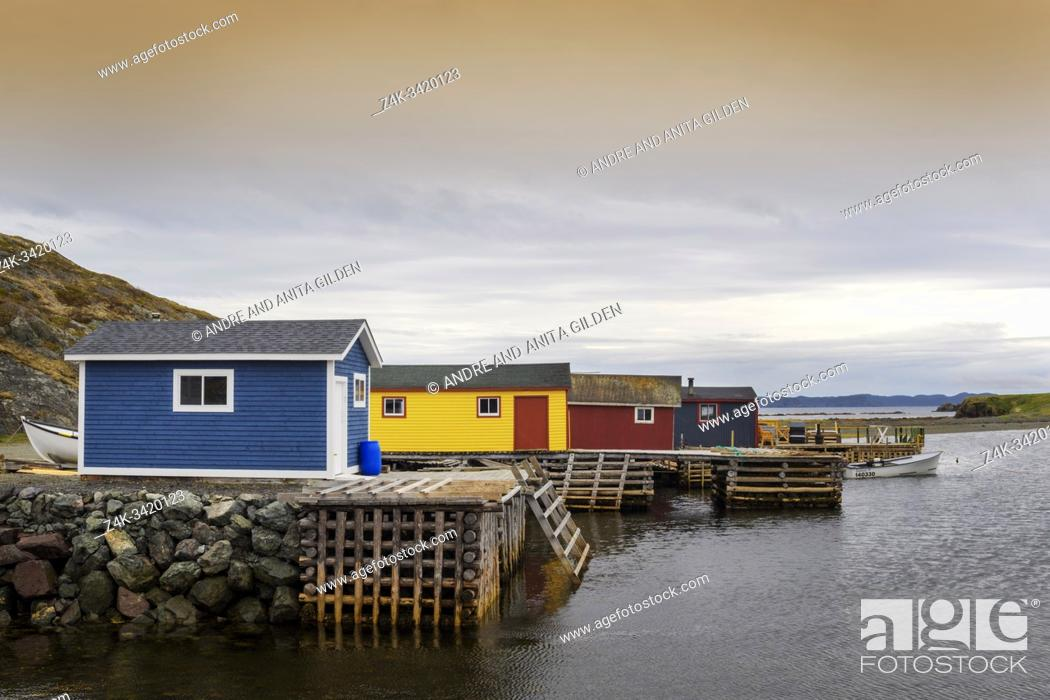 Imagen: Typical boathouses in a cove, Newfoundland & Labrador, Canada.