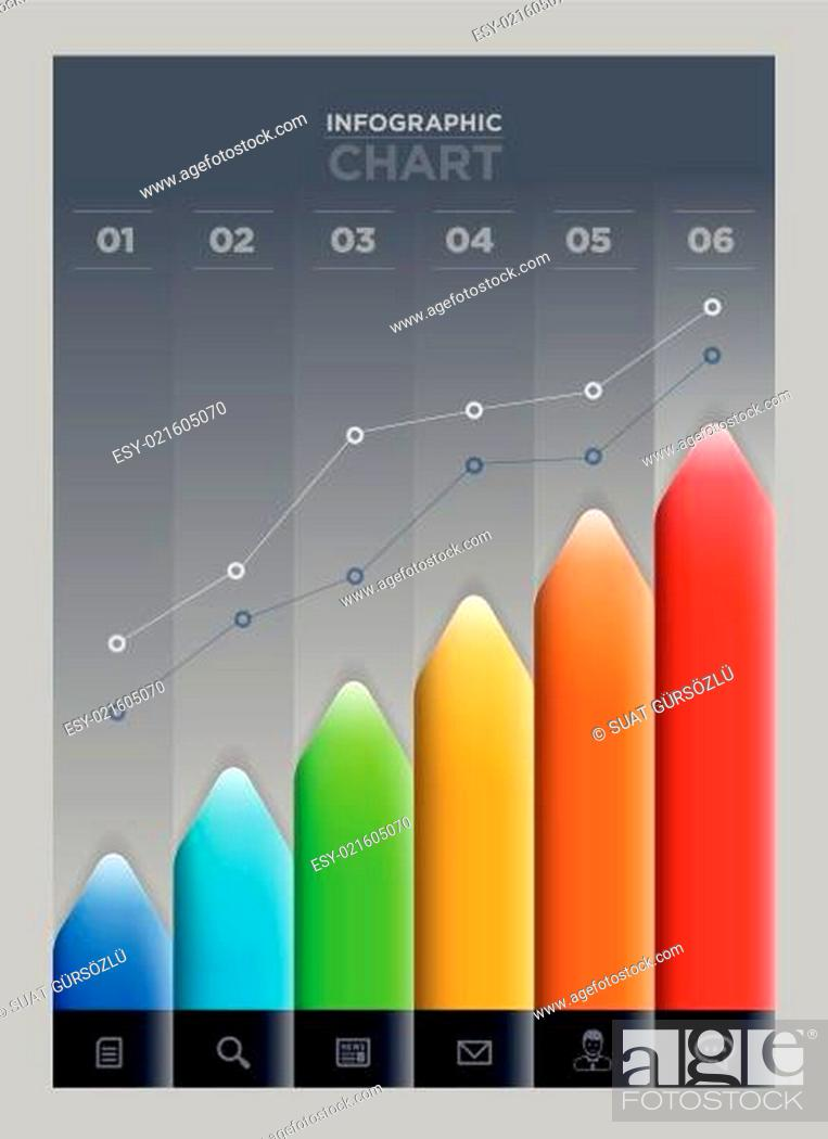 Stock Vector: Arrow graph.