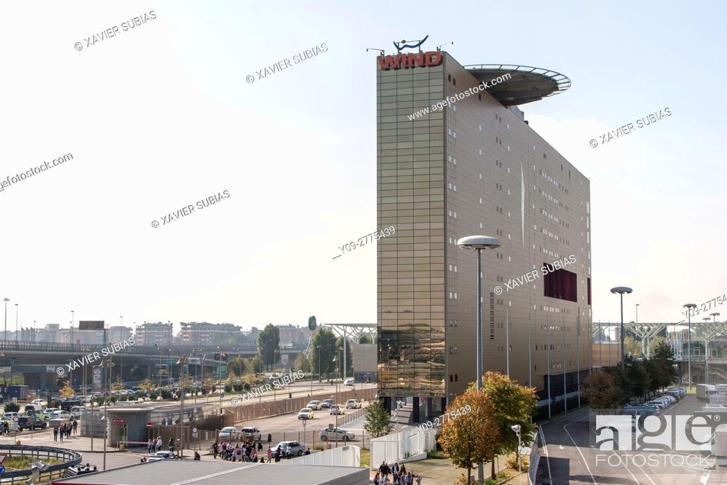 Stock Photo: Wind building, Milan, Lombardy, Italy.