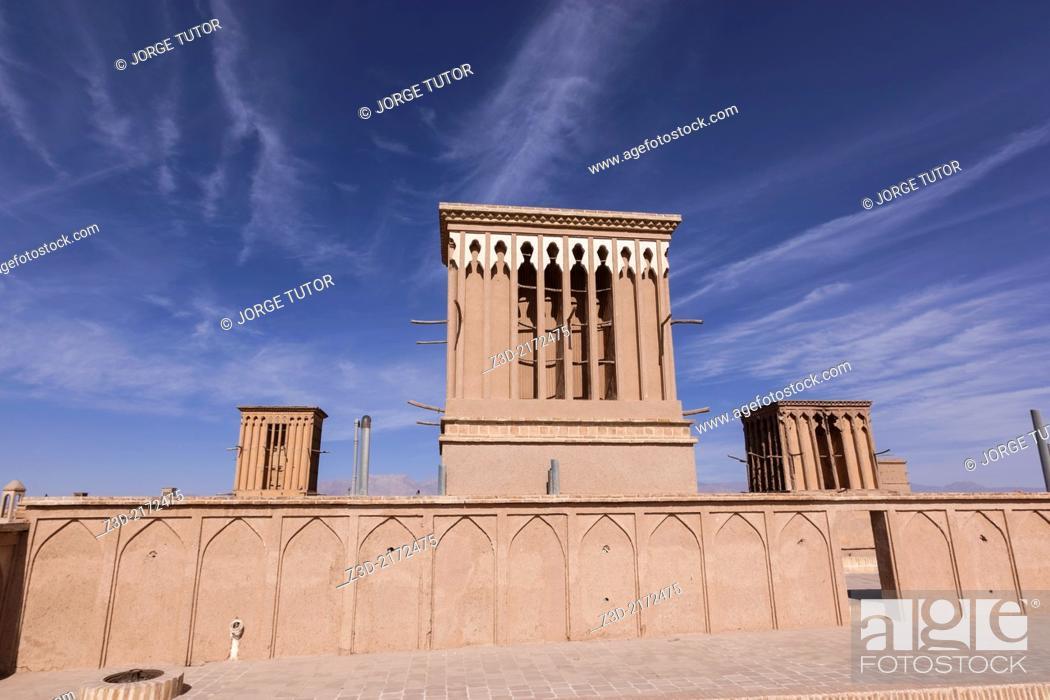 Imagen: Badgir, Wind Tower, Yazd, Iran.
