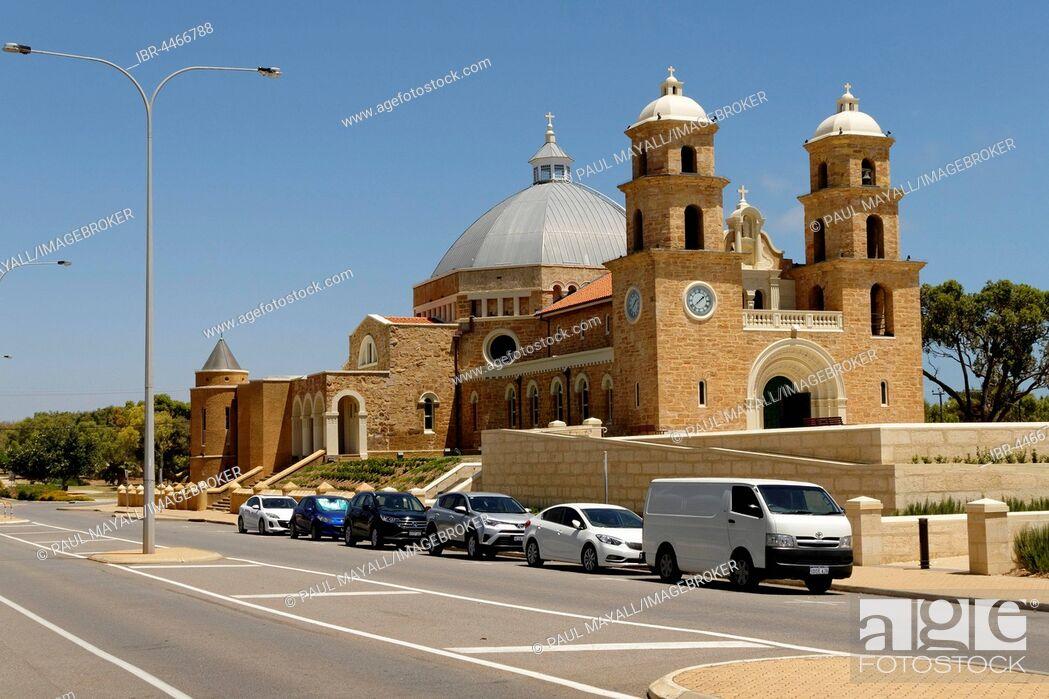 Stock Photo: St. Francis Xavier Cathedral, Geraldton, Western Australia, Australia.