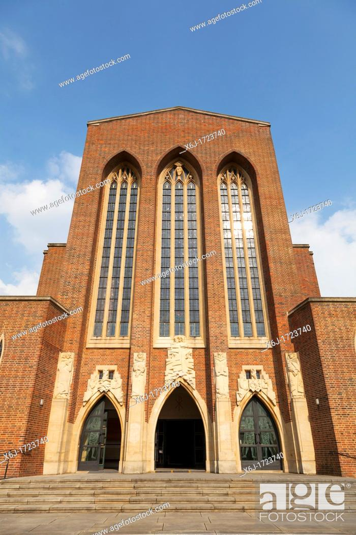 Stock Photo: Exterior views of Guildford Cathedral.