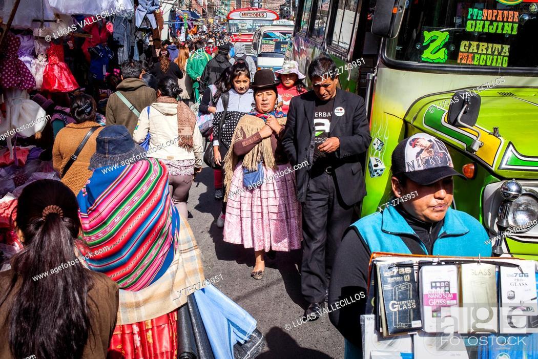 Calle Santa Cruz La Paz Bolivia Stock Photo Picture And Rights Managed Image Pic X7f 2743951 Agefotostock