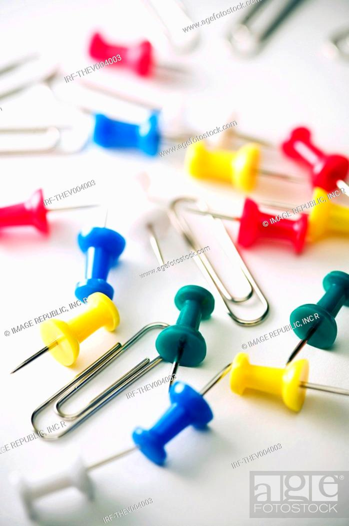 Stock Photo: clips and pins.