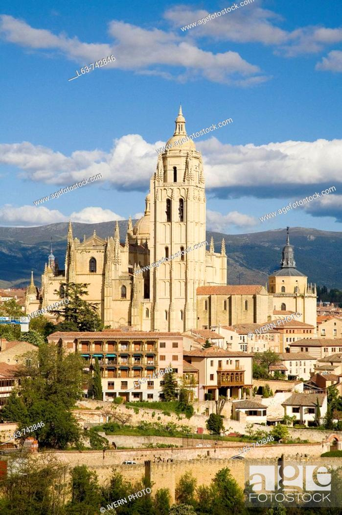 Stock Photo: Cathedral, Segovia. Castilla-Leon, Spain.