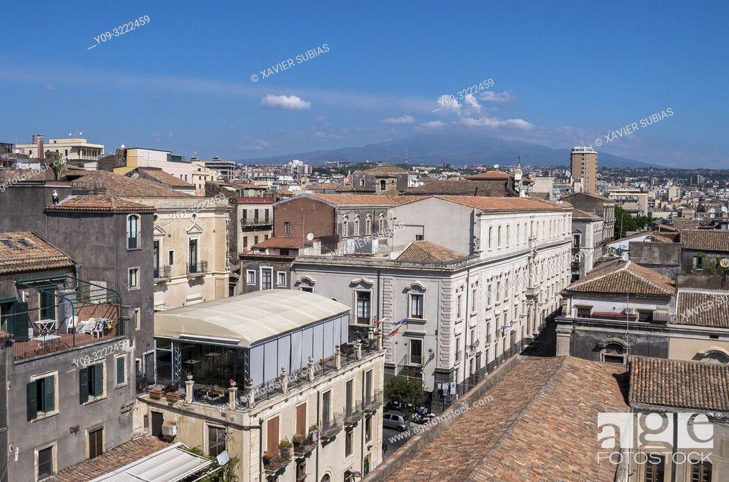 Stock Photo: Catania, Mount Etna, Sicily, Italy.