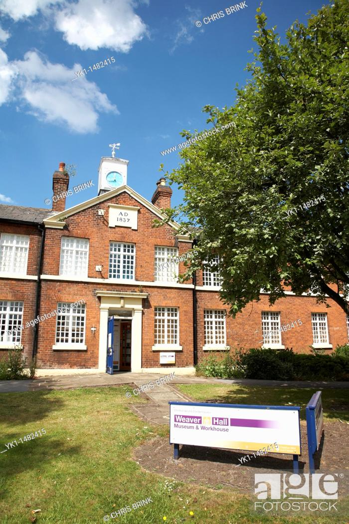 Stock Photo: Entrance to Weaver Hall Salt museum and workhouse in Northwich Cheshire UK.