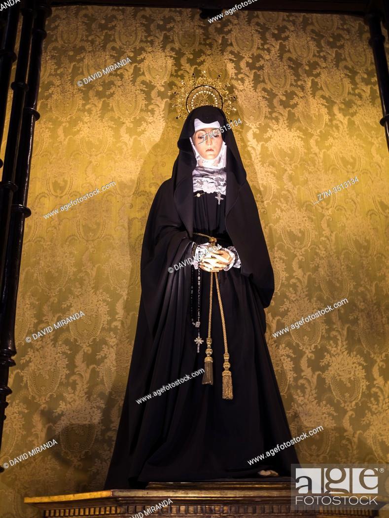 Stock Photo: Virgen de la Soledad. Zamora. Castilla León. España.